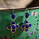 Toyah Blue Enamel Earrings image