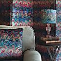 Teal Bouquet Velvet Cushion image