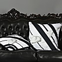 Nude Black Cotton Cushion  image