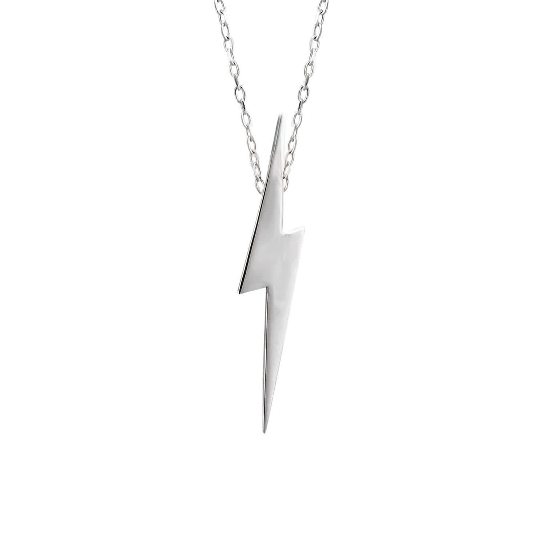Lightning Bolt Drop Necklace