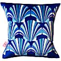 Blue Shell Velvet Deco Cushion image