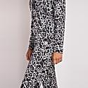 Bamboo Long Sleeved Trouser Pyjama Set In Leopard Print image