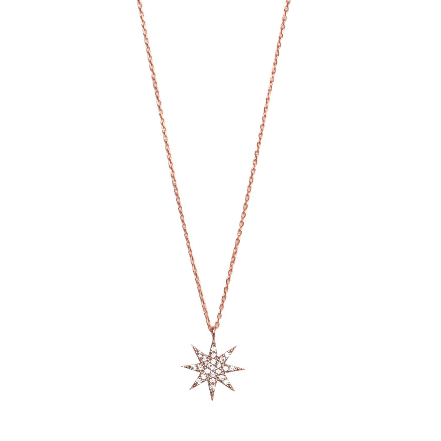 aacd6cc9aebdc Lamat Star Necklace Rose Gold by Wild Hearts
