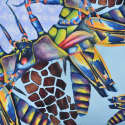 Optical Insects Silk Scarf image