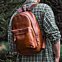 Leather Classic Backpack Rucksack In Vintage Brown image