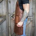 Full Grain Leather Double Pocket Apron image