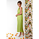 Isla Maxi Dress In Chartreuse Silky Satin image