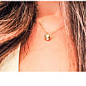 Double Side Shell & Pearl Necklace Gold image