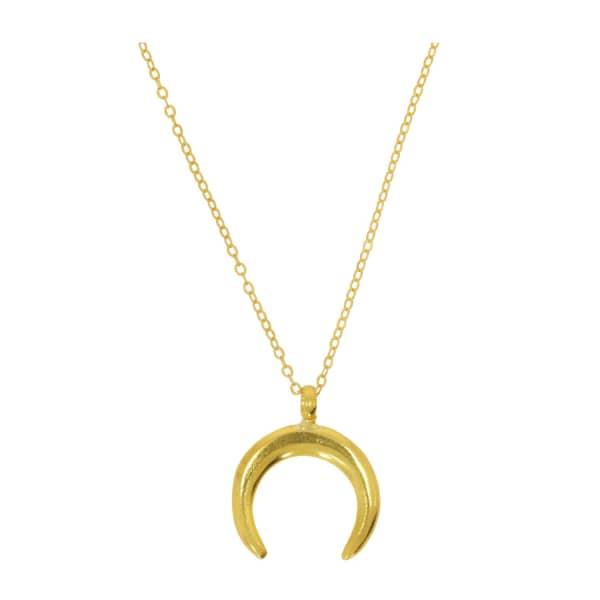 OTTOMAN HANDS Luna Gold Crescent Necklace