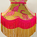Mustard & Pink Psychedelic Tigers Velvet Crown Shade image