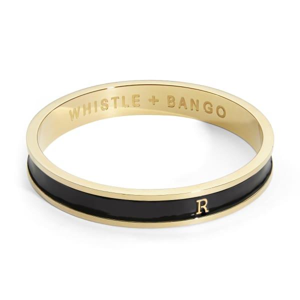 WHISTLE + BANGO Black Alphabet Bangle Reg