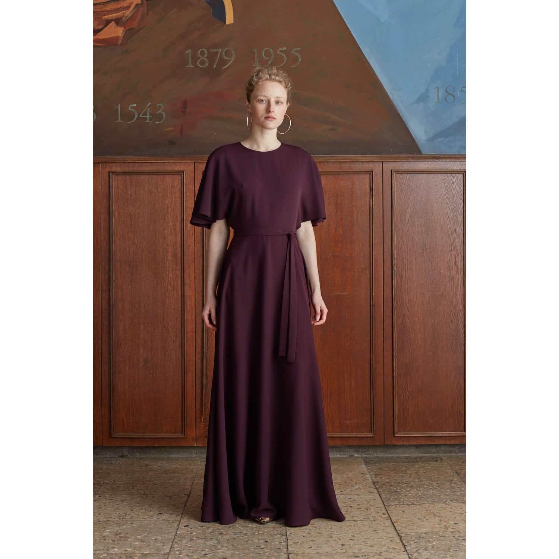 Soula Purple Maxi Butterfly Sleeve Dress by UNDRESS