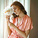 Arya Safari Linen Shirt Dress, In Salmon Pink image