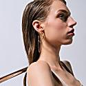 Gentler Hoop Earrings With Chain image