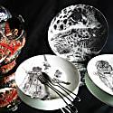 Mummy Bear and Baby Bear Limited Edition Fine English Bone China Coupe Plate image
