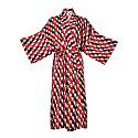 Long Kimono Wrap Dress In 70'S Print Massami image
