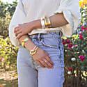 Gold Knot Bangle image
