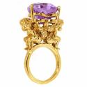African Violet Cherub & Heart Ring image