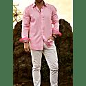Pink Kenyan Kikoy Shirt image