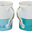 Leopard & Penguins Mugs - Set Of 2 image