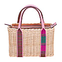 Purki Pink Handmade Wicker Basket Bag image