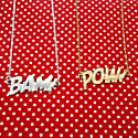 POW Letters Necklace Large in Gold image