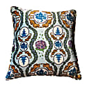Tiger Chinoiserie in Blue Velvet Large Cushion image