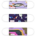 'Gone Fishing' Print Mask Set of 3 image