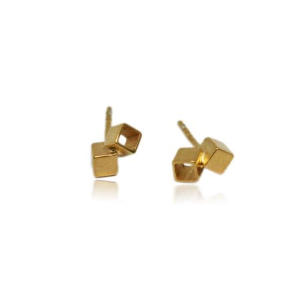 KAROLINA BIK JEWELLERY Fujimoto Small Earrings Gold