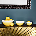 Yellow Colour Dip Nested Bowl - Set Of 3 image