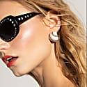 Oh La La Black Crystal Sunglasses image