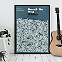 Blowin' In The Wind - Song Lyric Print image
