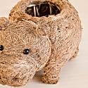Coco Coir Animal Planter Baby Hippo image