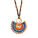 Statement Necklace In Cobalt Mix image