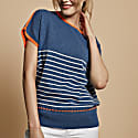 Esther Cashmere Jumper Blue With Orange image