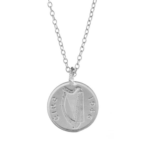 CHUPI Worth Your Weight in Gold Farthing Coin Necklace Silver