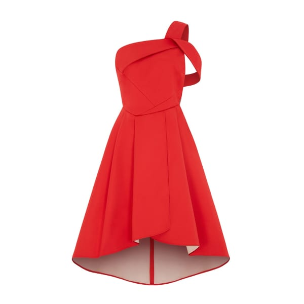 OUTLINE The Red Rosehill Dress