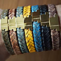 Royal Blue Gold Leather Bracelet Serac Bracelet image