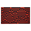 Bitmap Orange Waves Beach Towel image
