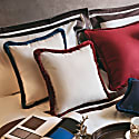 Dirty White With Red Happy Pillow image