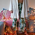 Tropical Cropped & Flared Pyjama Bottoms image