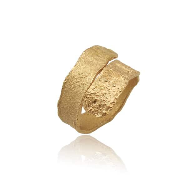 KAROLINA BIK JEWELLERY Algae Ring Gold