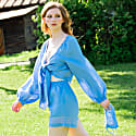 Veleslava Top With Ties in Sky Blue image