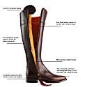 The Regina Mahogany - Leather Boot image