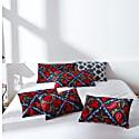 Halicarnassus Tomb Suzani Ikat Double Sided Heritage Design Luxury Cushion image