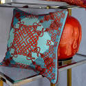 Xanadu Red Silk Cushion image