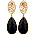 Crystal and Black Onyx Drop Earrings image