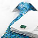 Bailey Gemstone Cufflink - Silver & Aventurine image