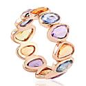 18Kt Rose Gold Multi Sapphire Women Band Ring image