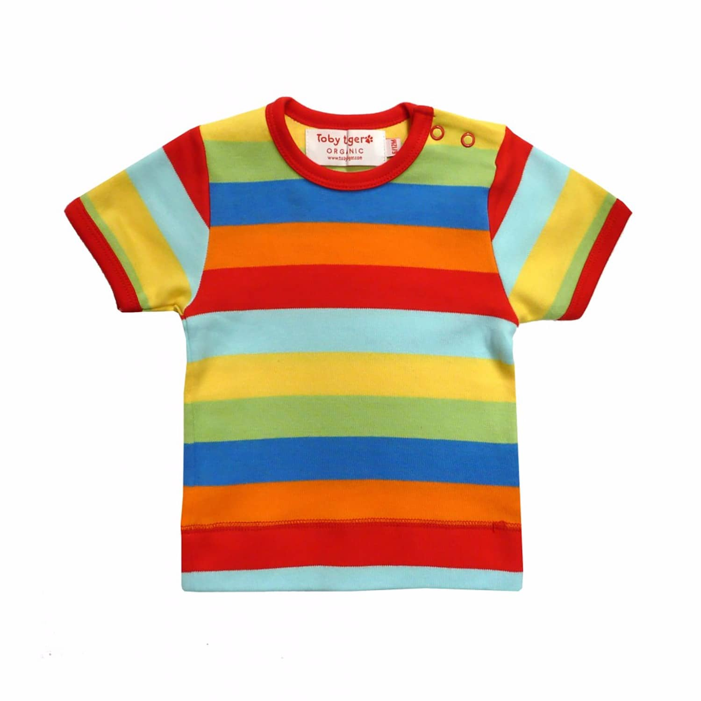 e94fc2f9172a Mutli Stripe Short Sleeve T-Shirt   Toby Tiger   Wolf & Badger